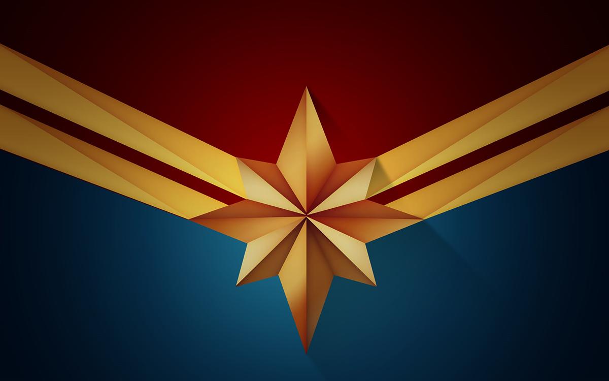 Captain Marvel Logo Designs Vector Art Diron Polson On
