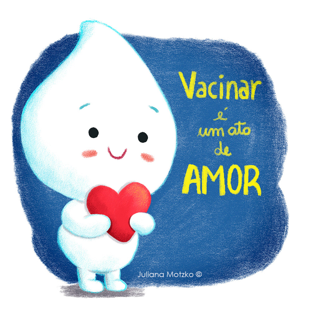 Character design  COVid cute ILLUSTRATION  juliana motzko vaccine vacina vacinação  zé gotinha