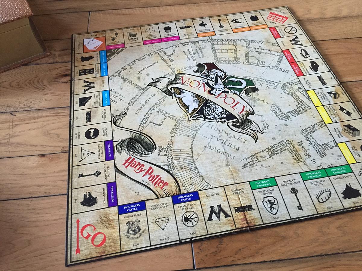 custom harry potter monopoly board on behance. Black Bedroom Furniture Sets. Home Design Ideas