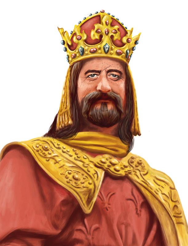 svitalsky painting   Portret cover caricature   malba karel king kral
