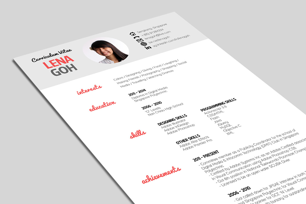 curriculum vitae on behance to make the cv more appealing i opted for minimal and chose a very clean and light format in various font types a touch of pink