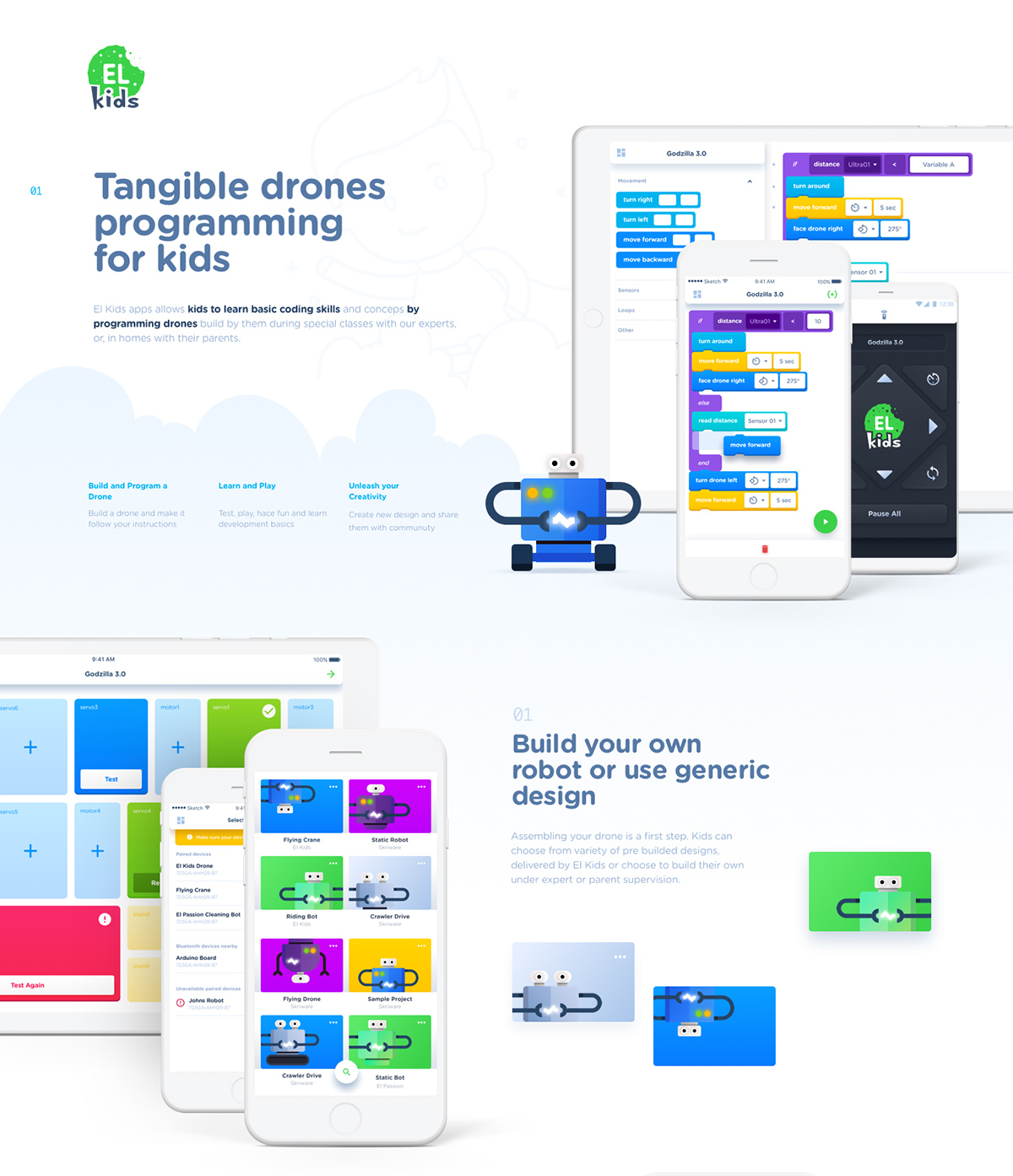 El Kids Tangible Drones Programming App on Wacom Gallery