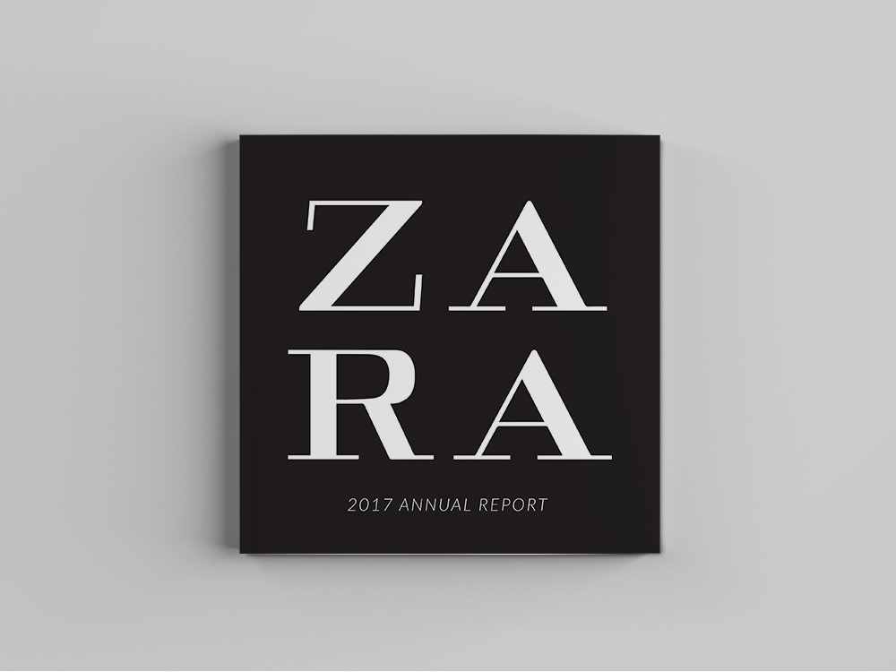 Zara Annual Report on Behance