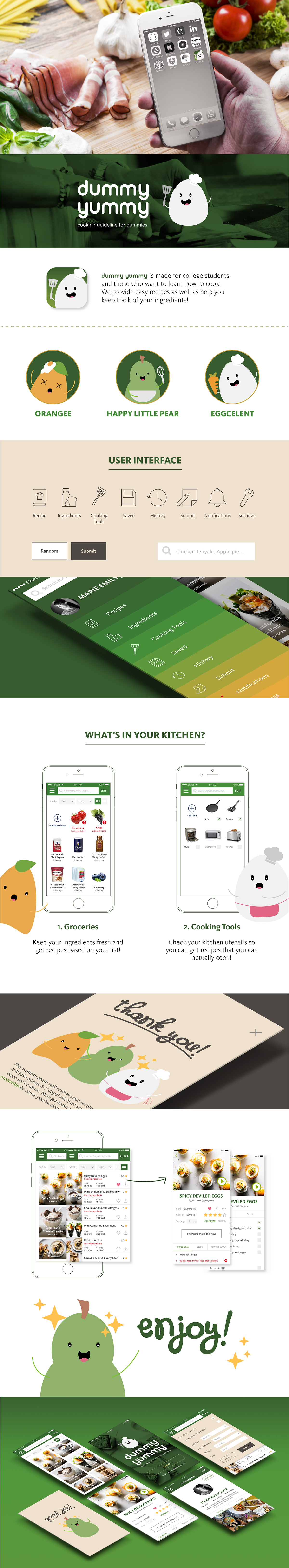 cooking iphone ui design user interface ios application mobile app UI ux