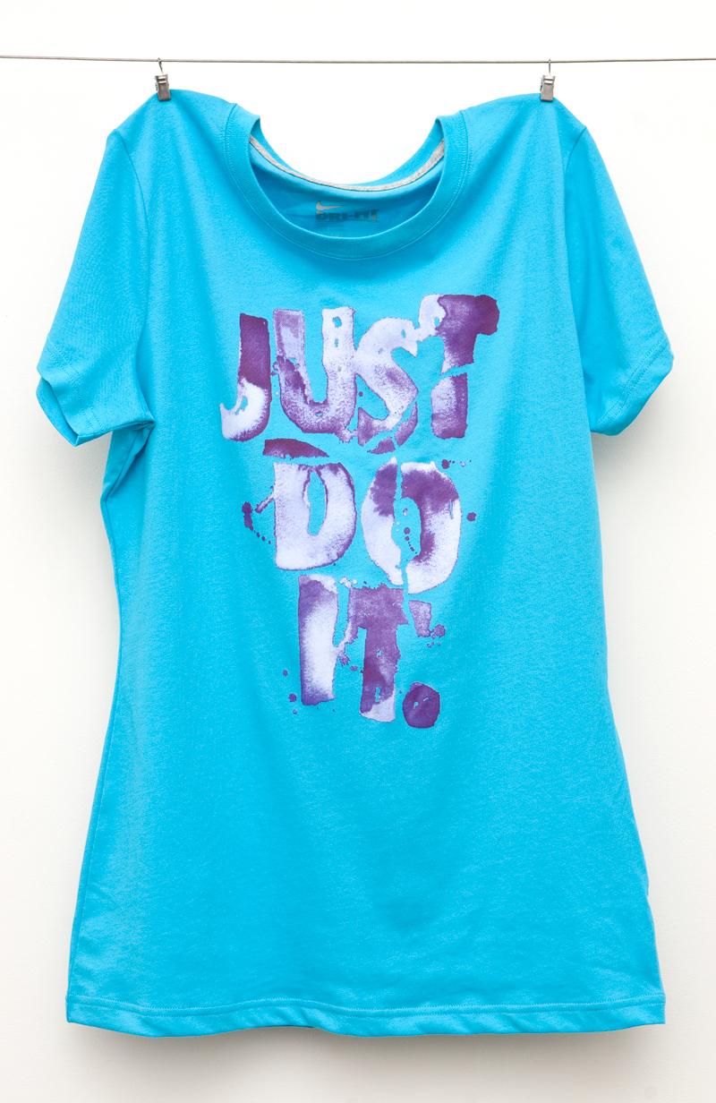 Adobe Portfolio Nike  t-shirt  watercolor apparel color Swoosh just do it