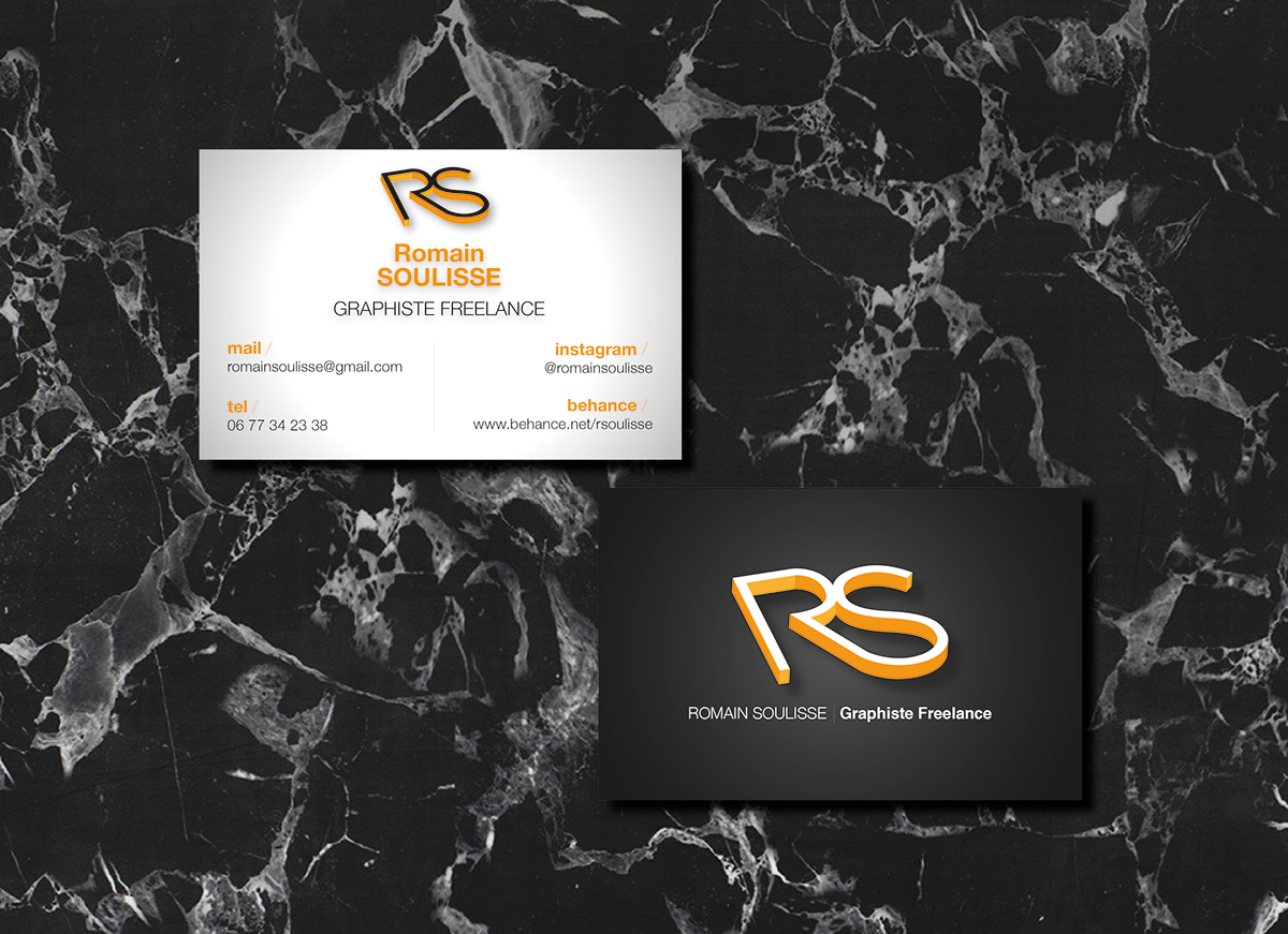 CARTE DE VISITE RS ROMAIN SOULISSE Graphiste L Freelance