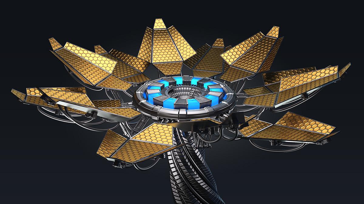 3D flower Energy Flower 3d Sci Fi 3d sci fi
