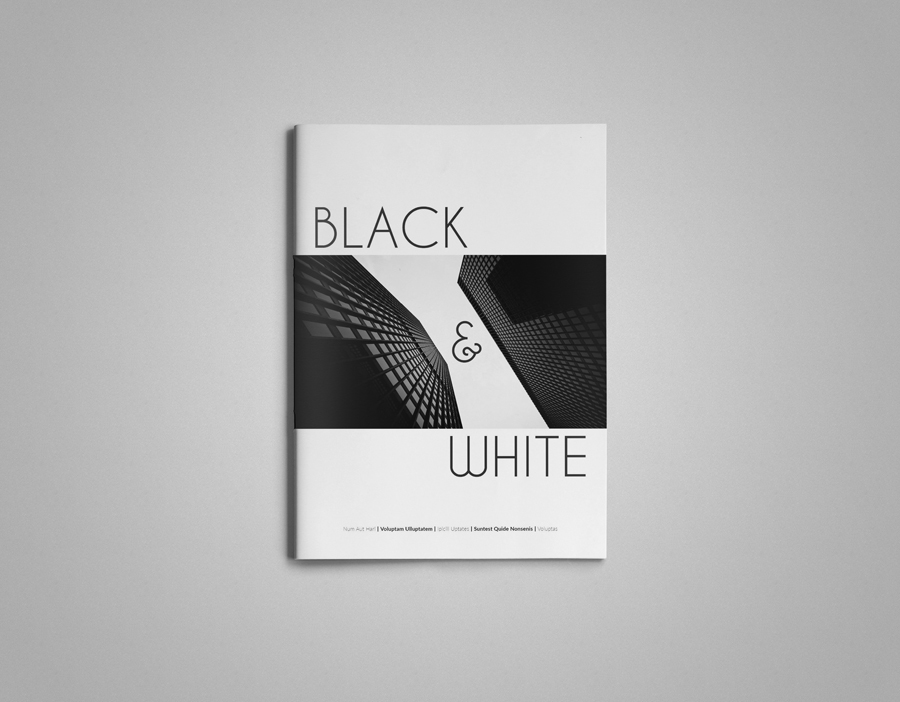 InDesign magazine template Multipurpose clean simple minimal a4 letter magazine clean layout creative easy modern stylish black and white