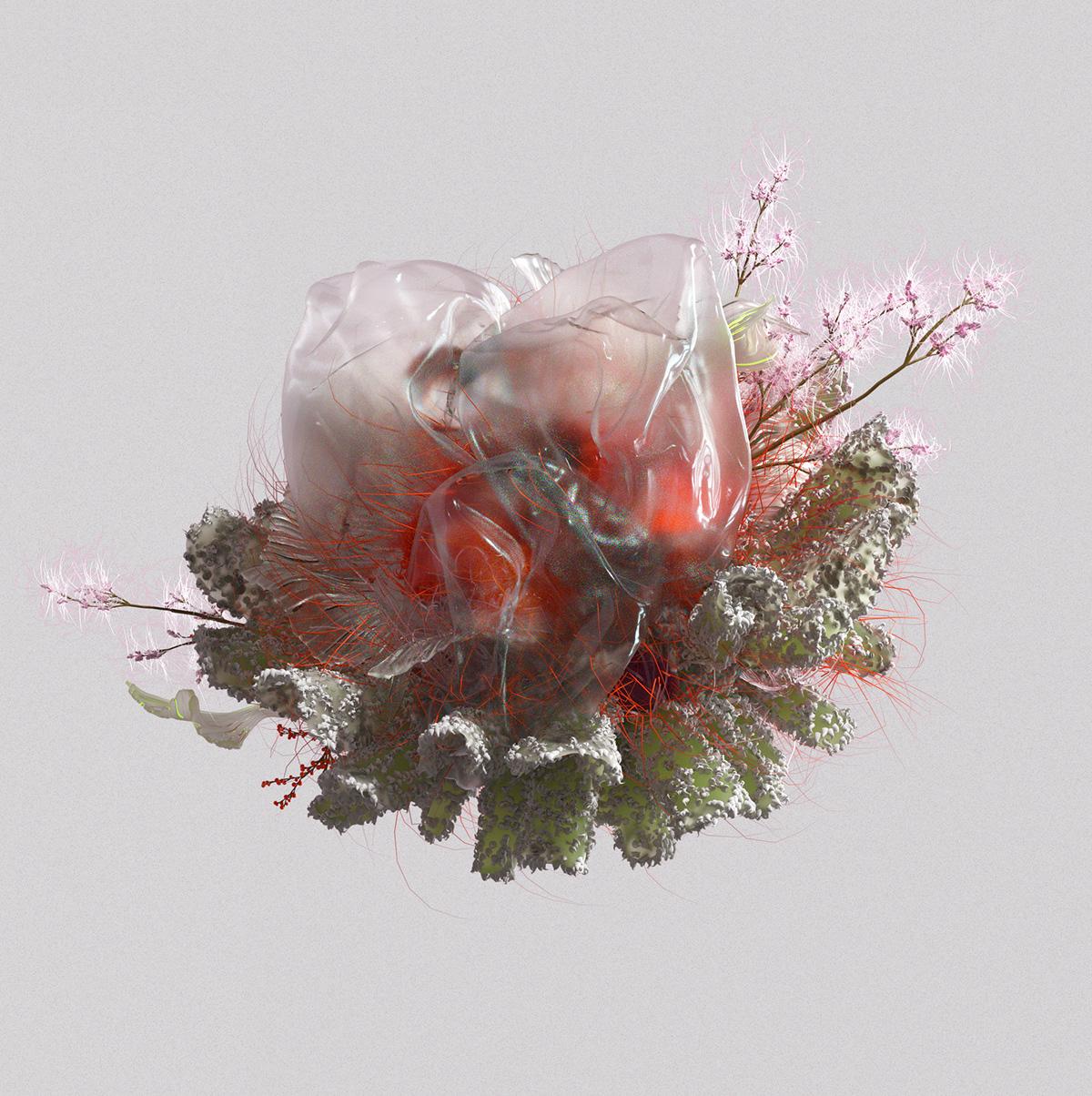 c4d flower motion cinema4d 3D graphics setdesign abstract organic Nature