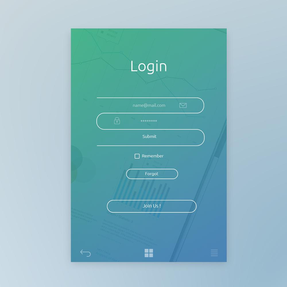 login page design on behance