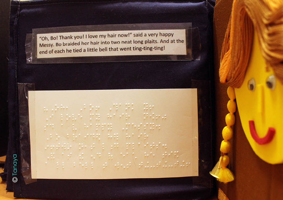 blind children book tactile graphics Braille story