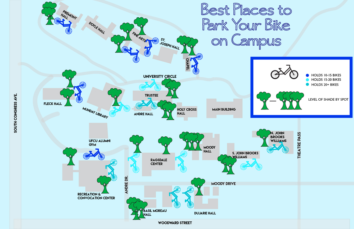 St. Edward's Campus Map: Where to Park Your Bike on Behance on sweet briar campus map, texas lutheran campus map, stanford campus map, delta state campus map, north lamar campus map, william carey campus map, george mason campus map, chico state campus map, cardinal newman campus map, trinity campus map, pittsburg state campus map, upper iowa campus map, university of texas campus map, baylor campus map,