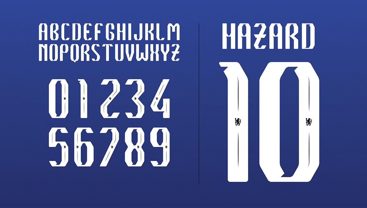 chelsea fc font proposal on behance