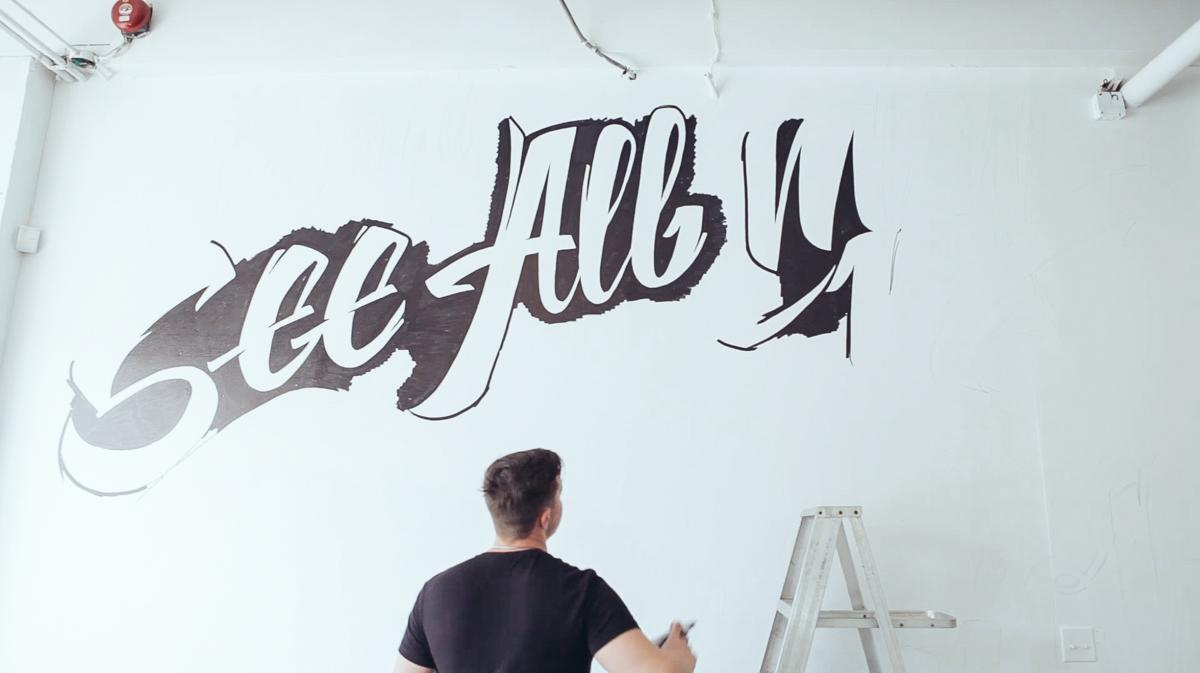 картинка шрифты на стене группа участвует