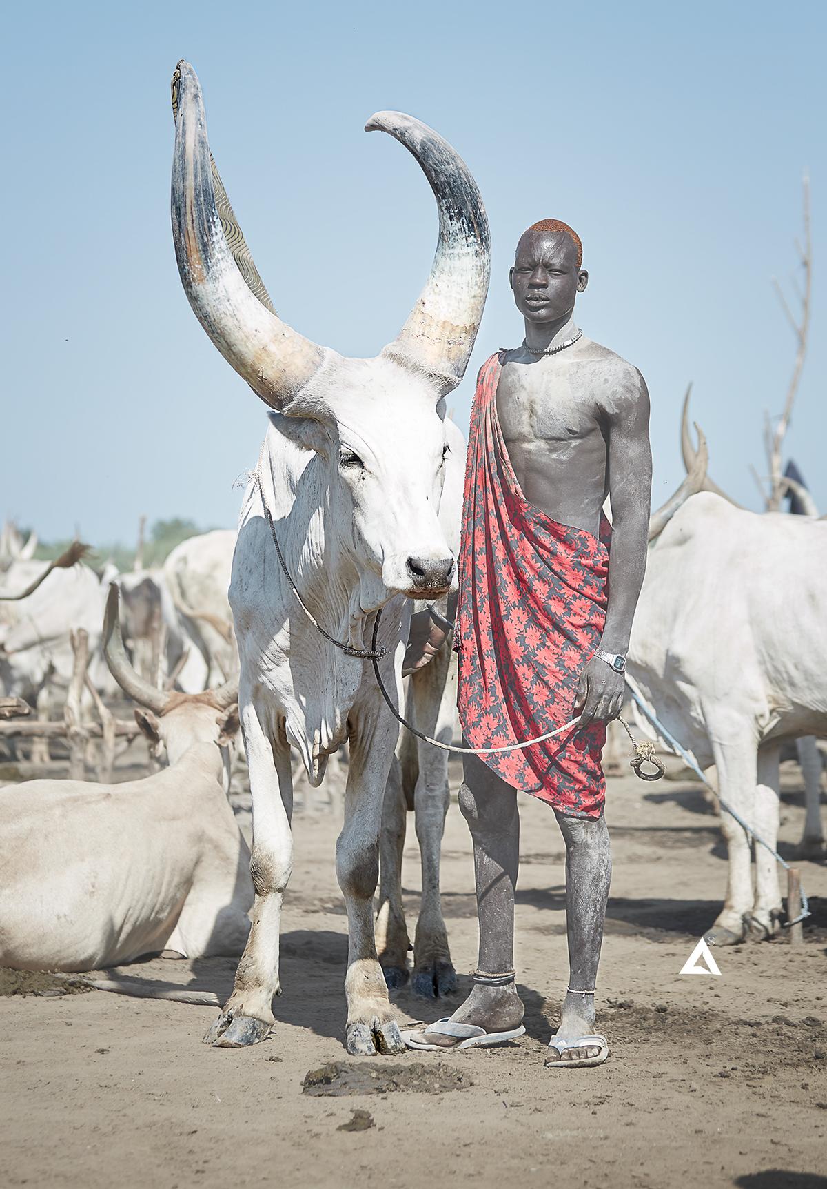 portrait tribe tribal africa culture South Sudan