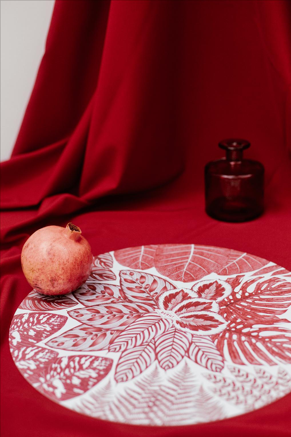 accessoire art de la table Collaboration decoration dessin ILLUSTRATION  Production set de table stylo bic végétaux