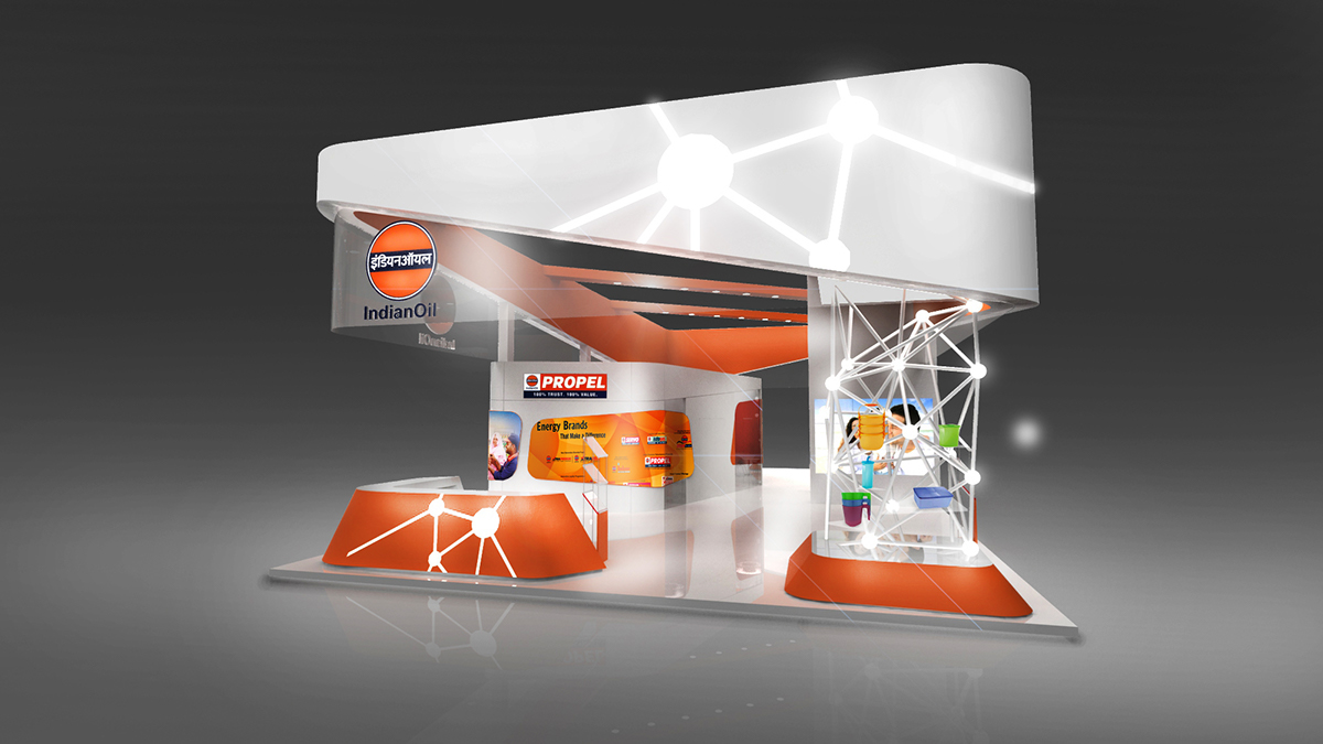 Exhibition Stall On Behance : Indianoil expo stall design on behance