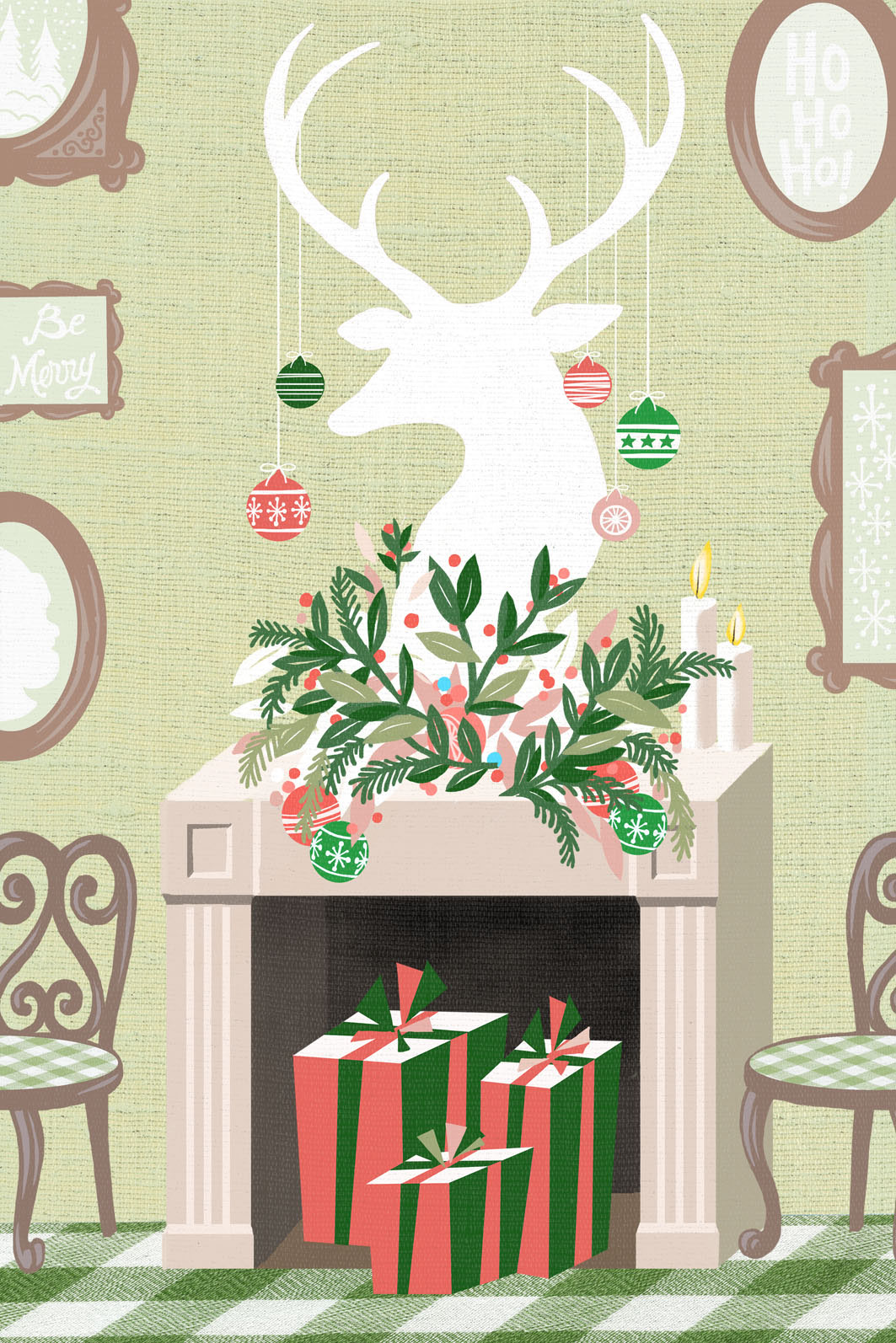 Greeting Cards Christmas Wall Art On Behance