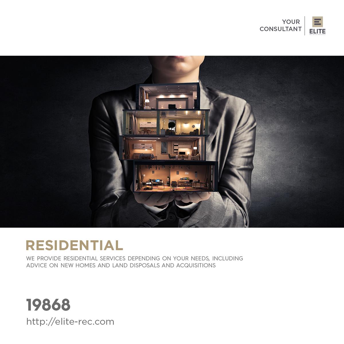 Elite Real Estate consultancy social media branding  saeed elgarf real estate