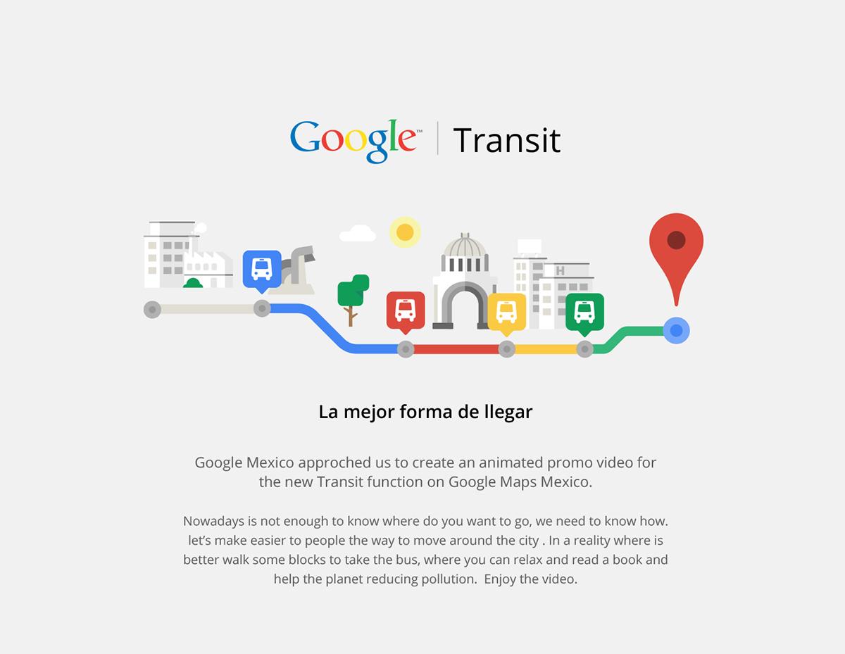 Google Transit on Behance