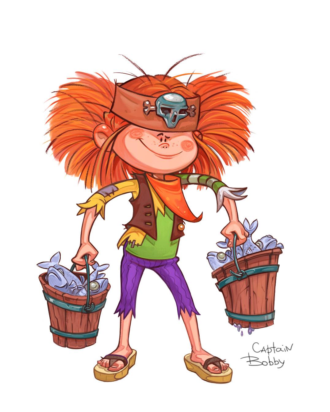pirate boy characterdesign characterart digital 2D funny cartoon Children's Books ILLUSTRATION