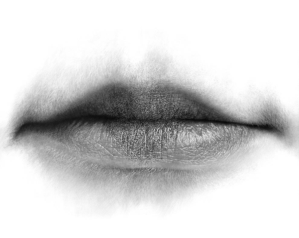 lips series paper pencil labyrinth hyperrealism fine art contemporary art christo dagorov