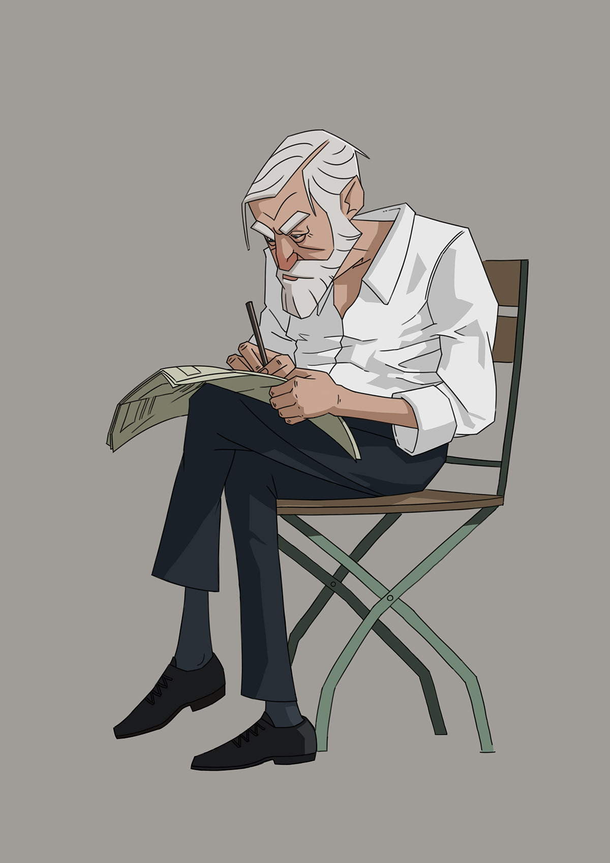 old man,caricature  ,Digital Art ,ILLUSTRATION ,cute