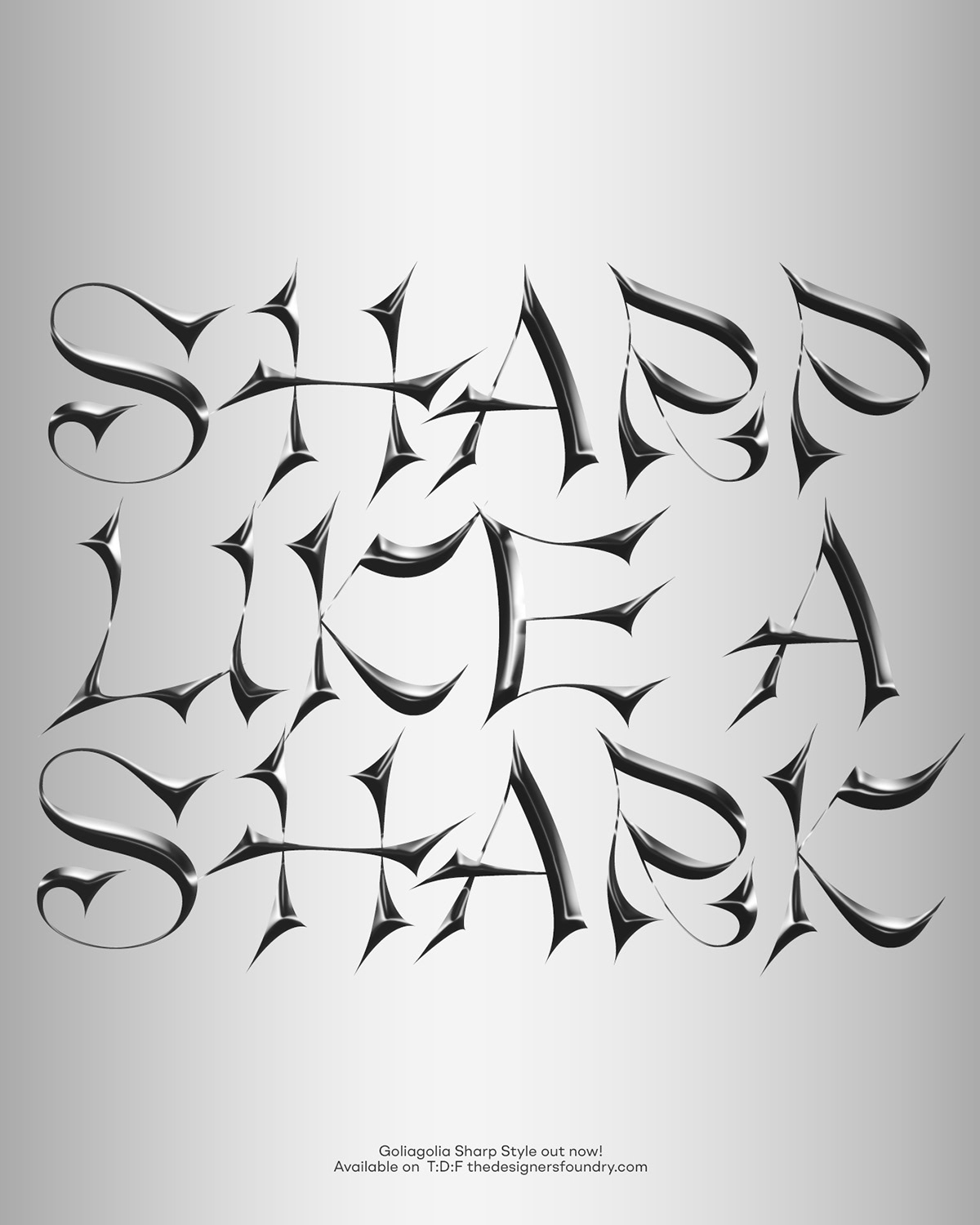 GoliaGolia Font - SHARP STYLE on Behance