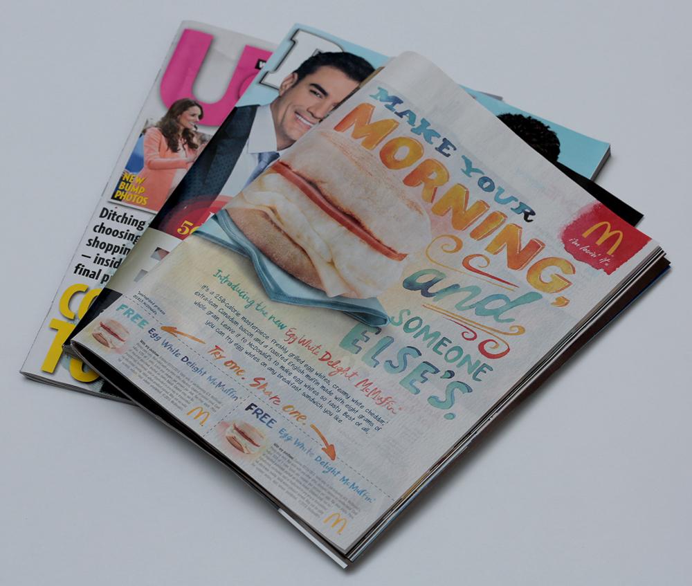 Adobe Portfolio watercolor hand-drawn type McDonalds hand-painted type watercolors color Painted bright