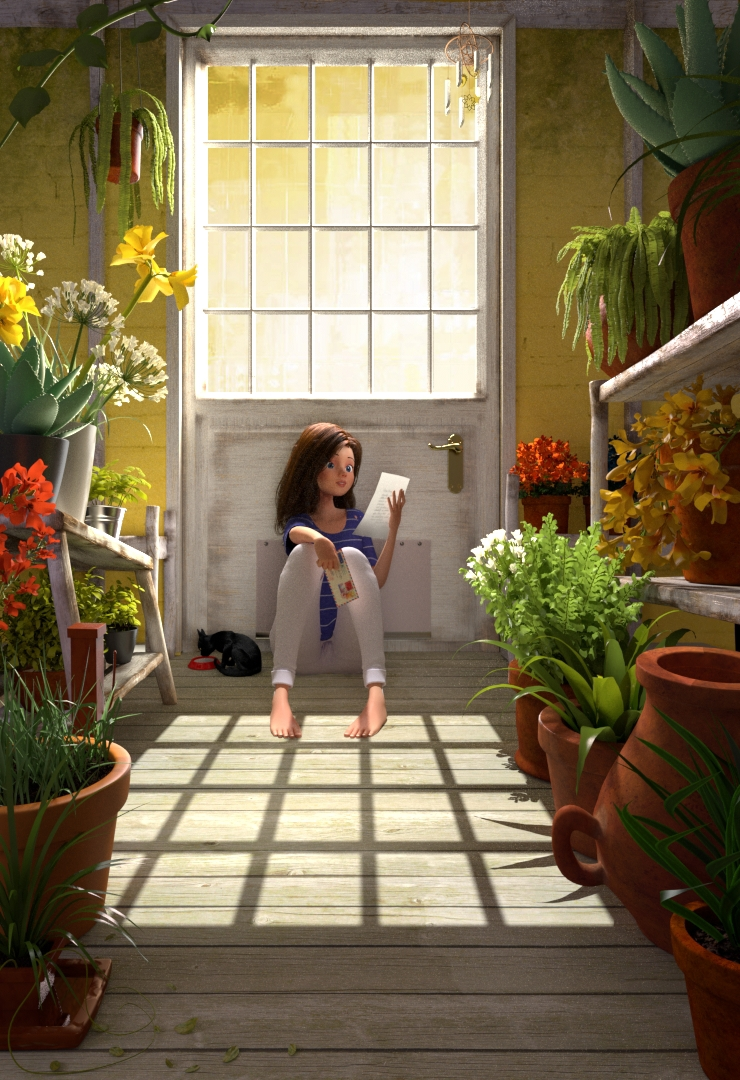 Pascal Campion Render personal Work  plants letter