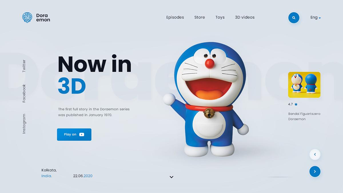 Clean Design designers designs digital design Doraemon dribbble Logo Designs minimal design ui designs web designs