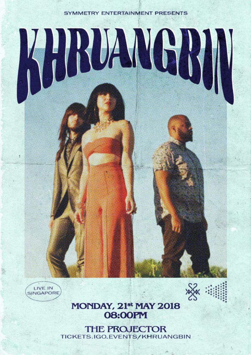 khruangbin music Symmetry Entertainment gig poster graphic design  singapore