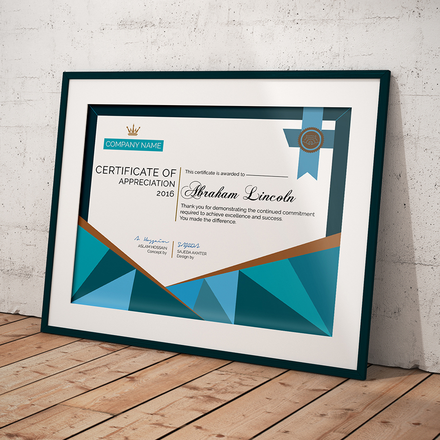 Free simple certificate on behance multipurpose certificate of appreciation introduction yadclub Images