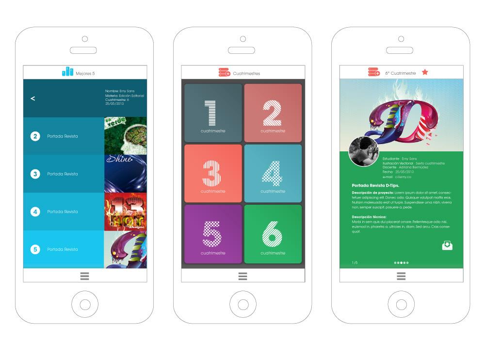 ios ios7 app UI ux school Responsive css JavaScript mobile html5 css3