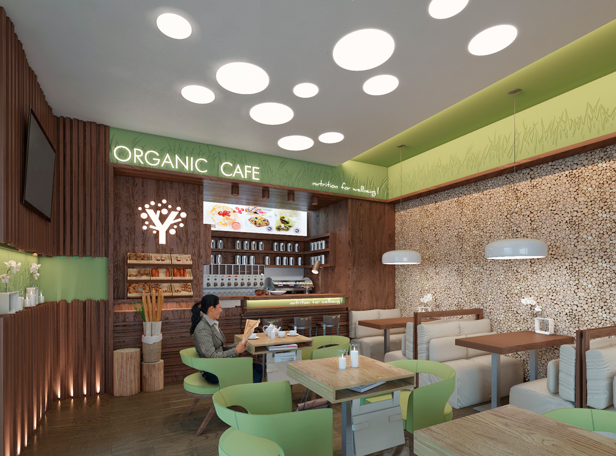 Organic Café for Glossary boutique // Kyiv on Behance