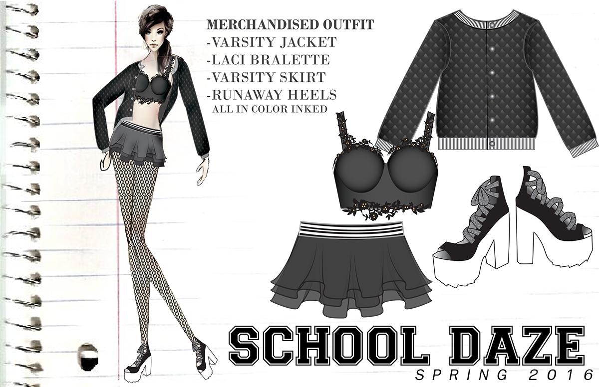 product development merchandising design Technical Design Flats rave technical flats fashion design