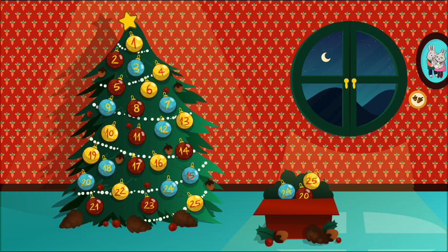 Image may contain: christmas tree and cartoon
