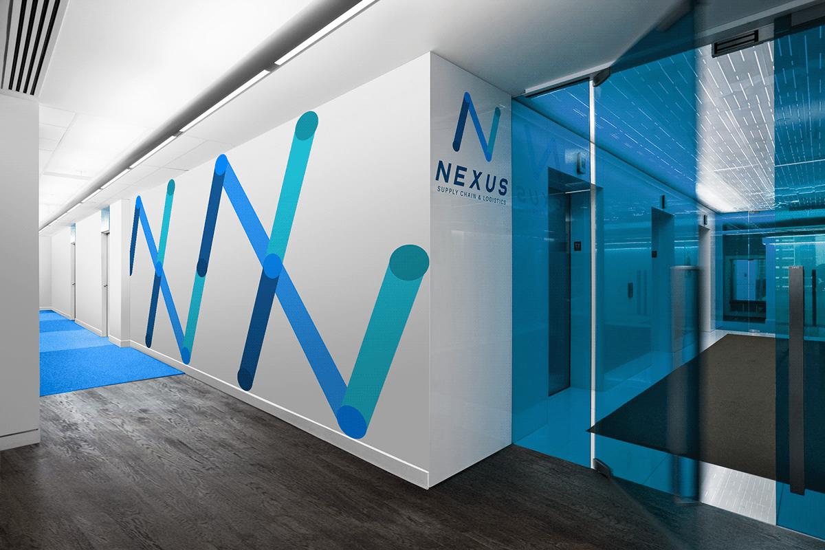 brand brand identity branding  graphic design  Logistics Supply Chain visual identity
