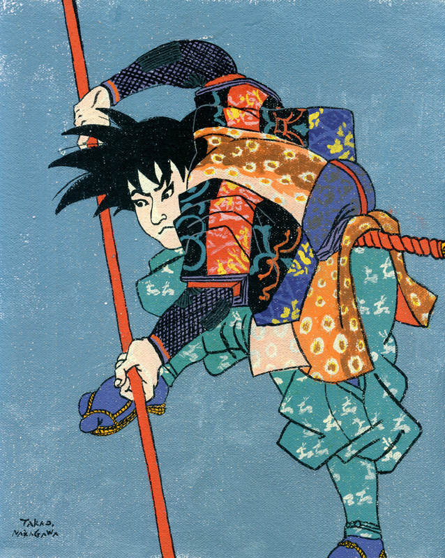 Takao Nakagawa,ukiyoe,Character,star wars,Captain Herlock,super mario bros,astro boy,dragon ball,lupin the third,Dr.Slump ARARE,The Incredible Hulk,batman,japan,cartoon characters