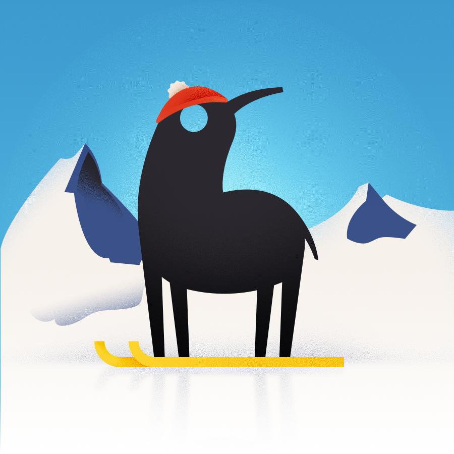 Christmas winter snow Holiday brand logo animation  malta star wars Valletta