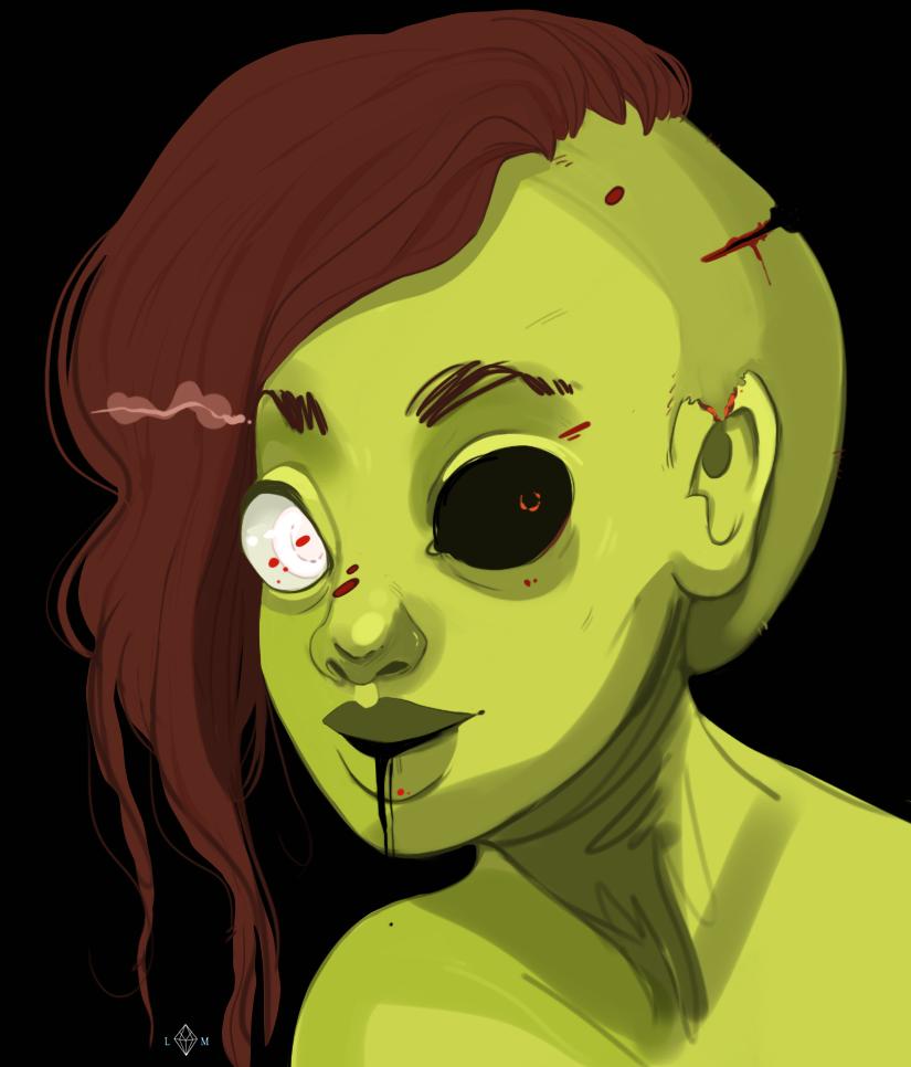 zombie Ocean Succubus girl boy bikini beach dock