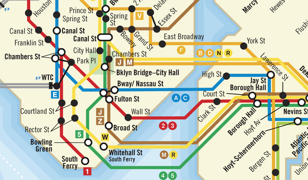 Vignelli Subway Map Current.Nyc Path Subway Map On Behance
