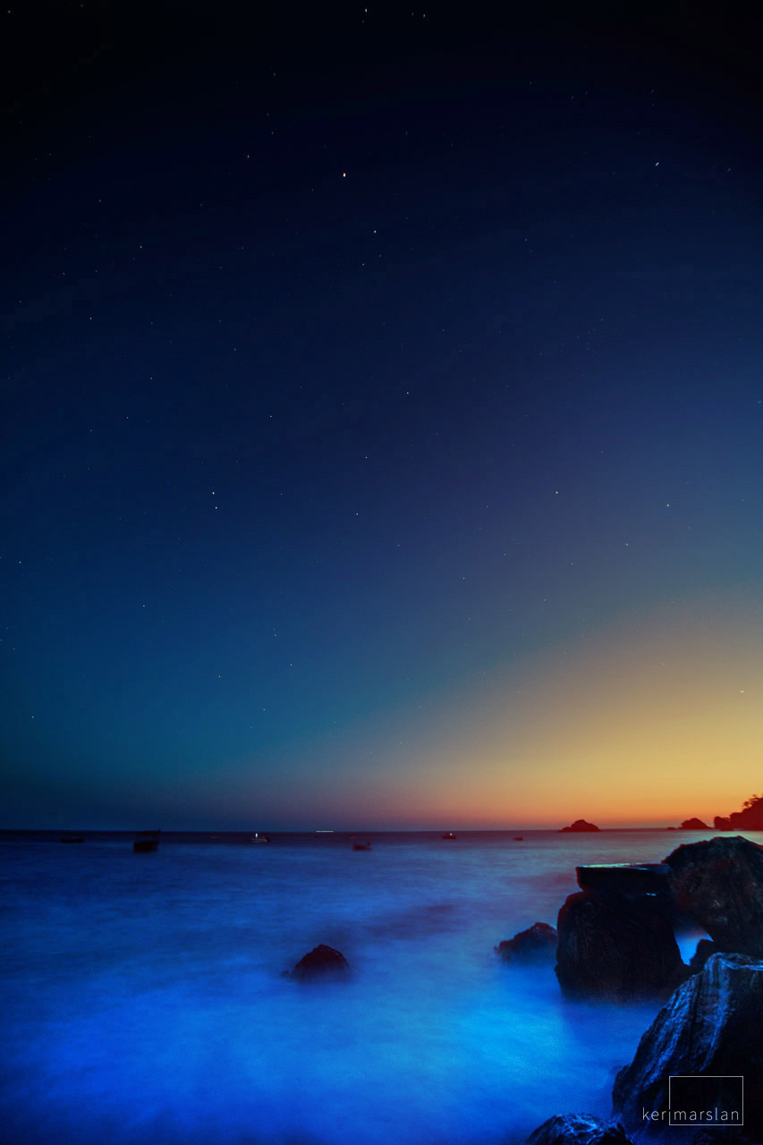 atmosphere SKY stars sea long light darkness water creative long exposure Exposure alone Landscape up Nature