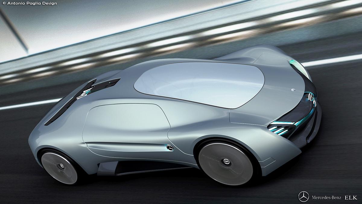 Mercedes elk electric concept on behance for Mercedes benz concept electric car