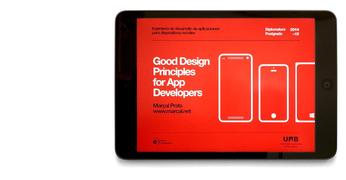 Good Design Principles for App Developers on Behance
