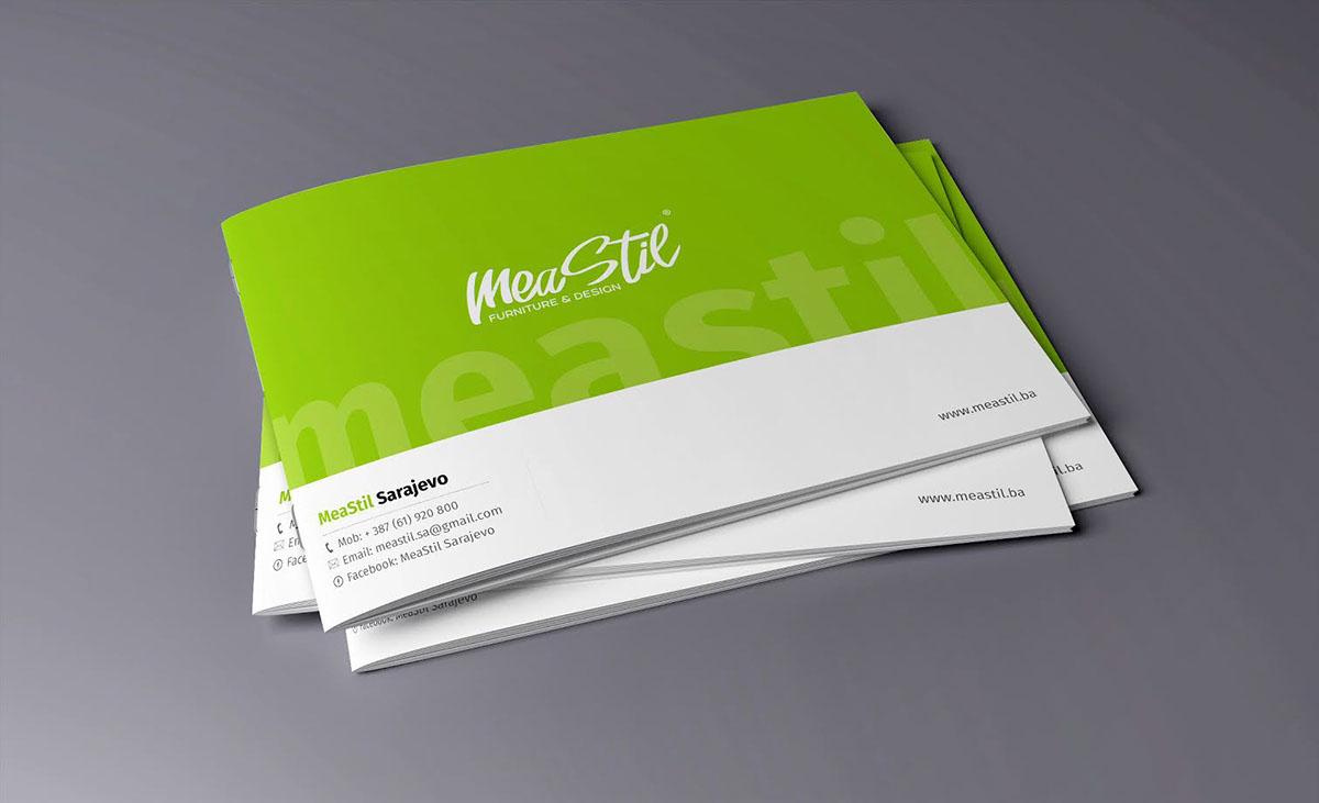 Landscape Brochure Design for MeaStil d.o.o. on Student Show