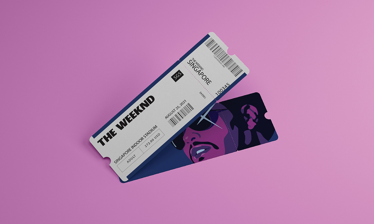 concert ILLUSTRATION  pop music R&B the weeknd ticket vector vinyl Vip