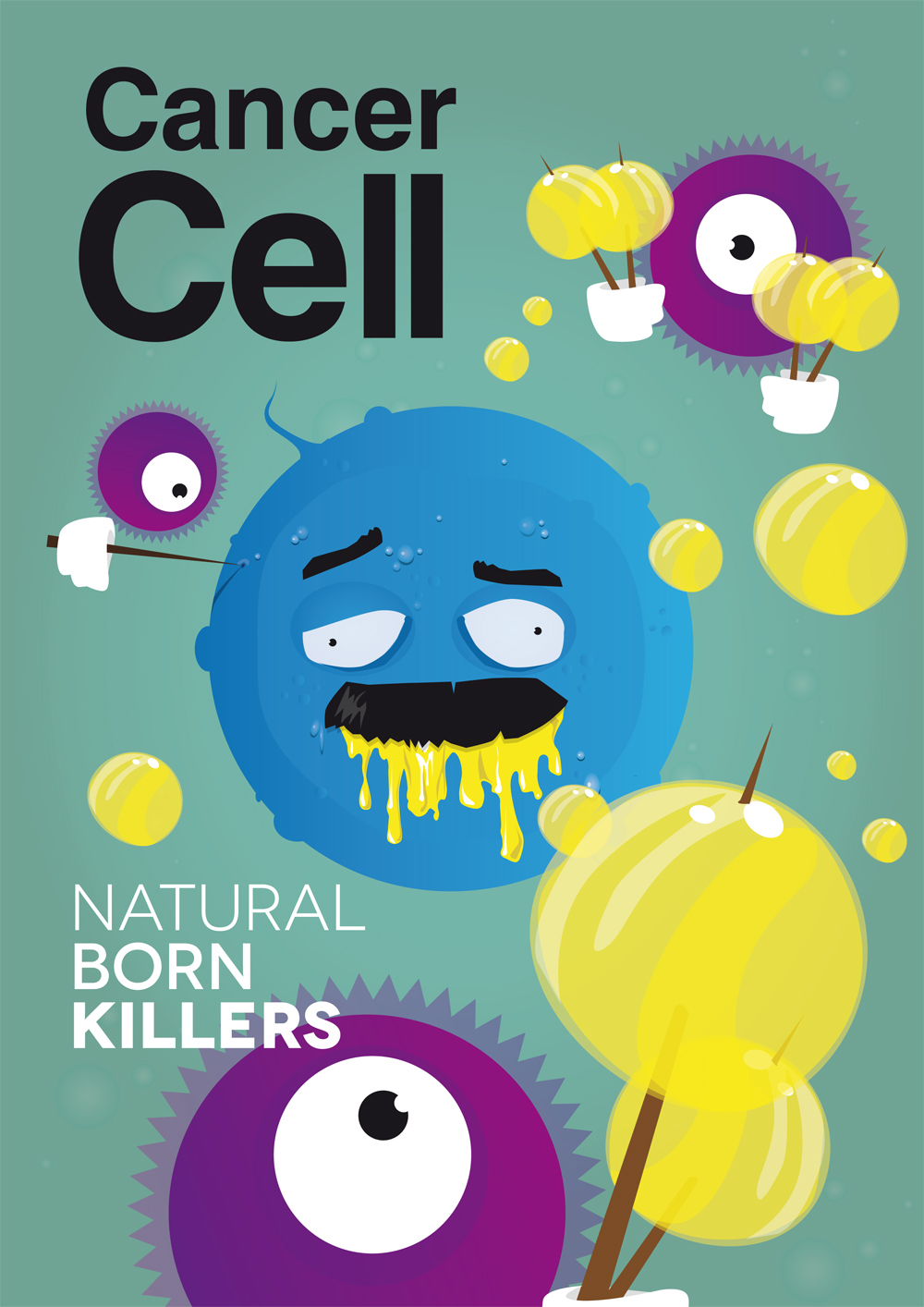 cancer cell cover picture for magazine on behance