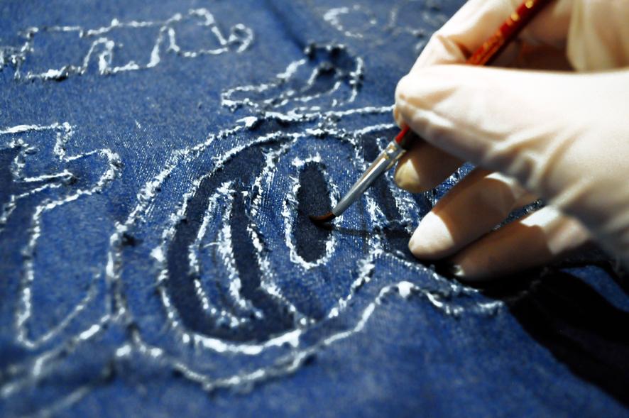 rock'n'roll poster Exhibition  matt Zene szemeimnek handmade ripped jeans acid washed Denim