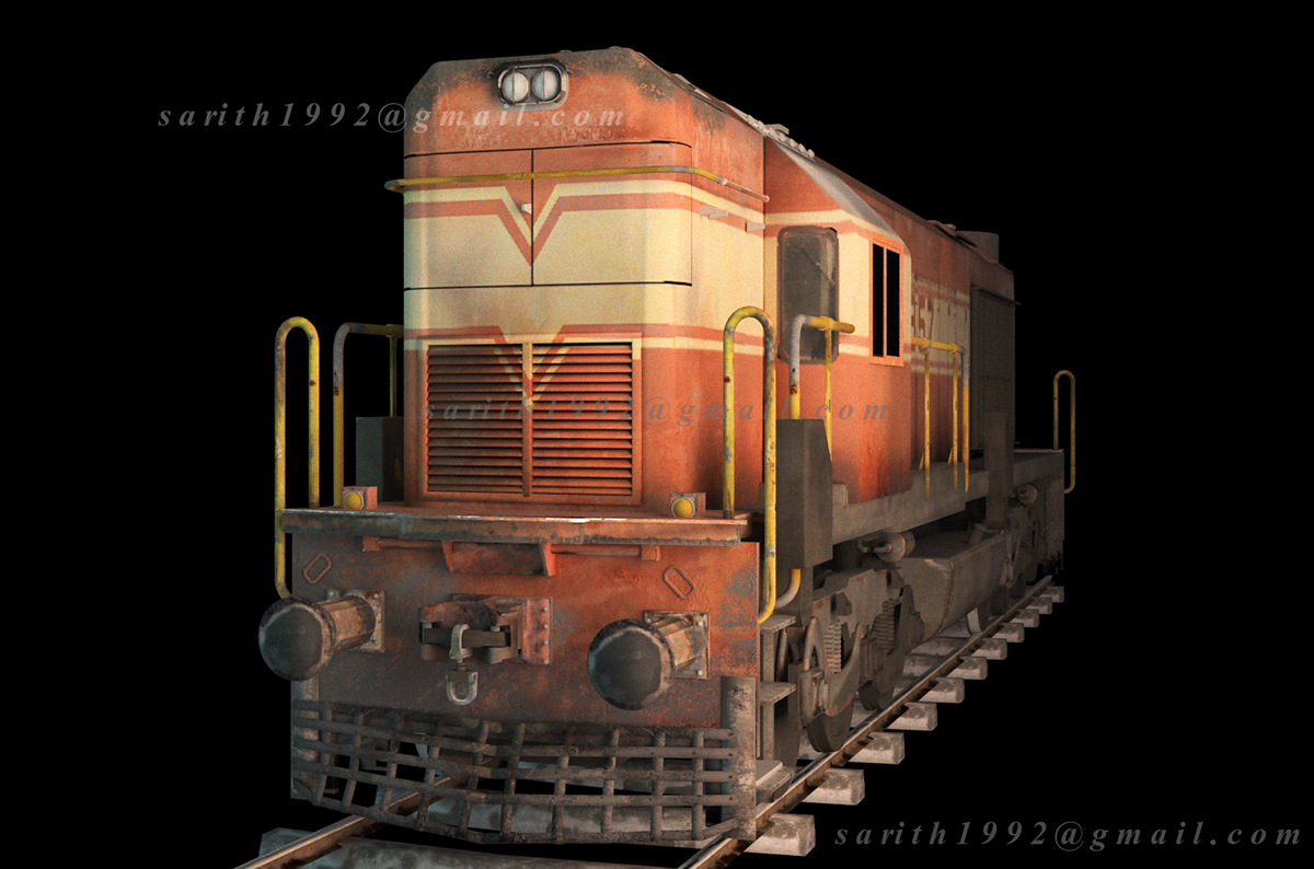 Indian Train Engine - CGI on Behance